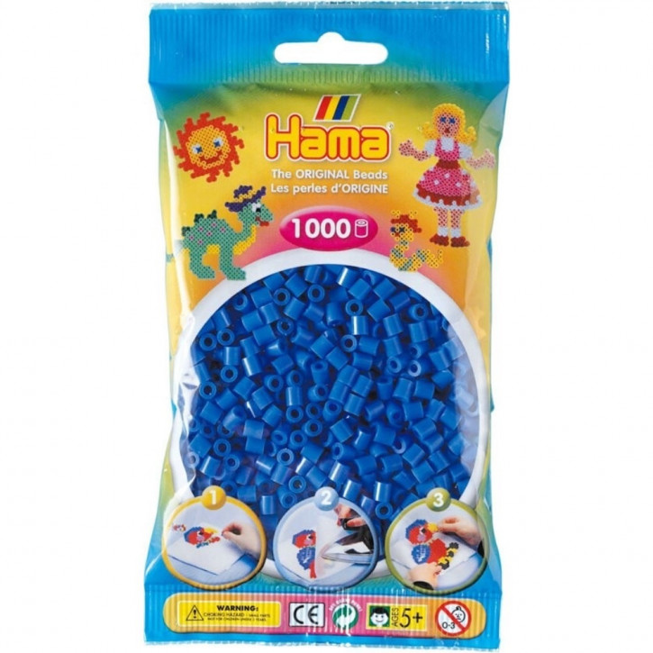 Bügelperlen 1000er Beutel hellblau