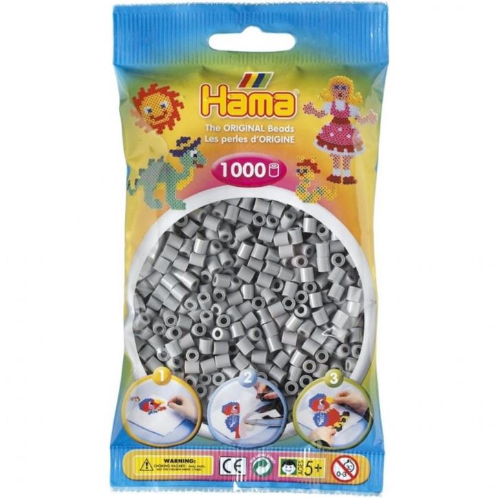 Bügelperlen 1000er Beutel grau