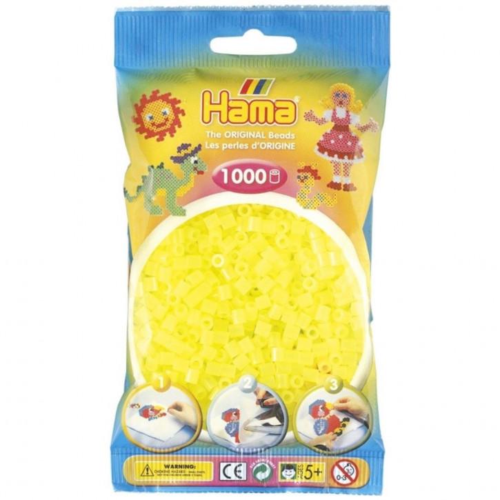 Bügelperlen 1000er Beutel neongelb