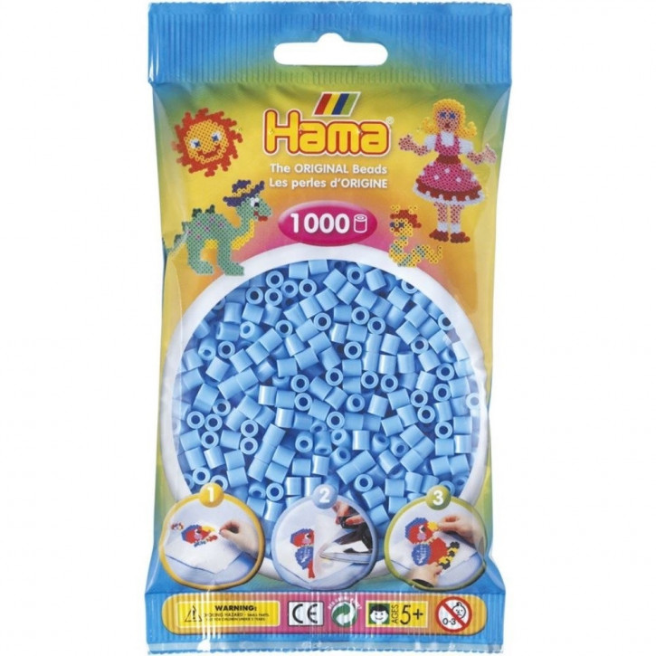 Bügelperlen 1000er Beutel pastell-blau