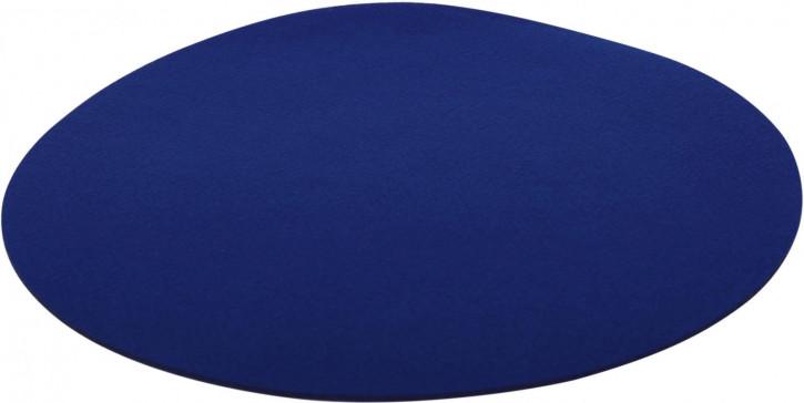 Filz-Set rund 33cm blau