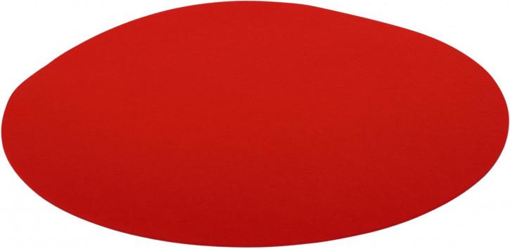 Filz-Set rund 33cm rot