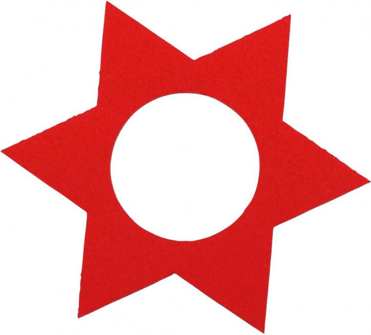 Filz Deko Stern rot