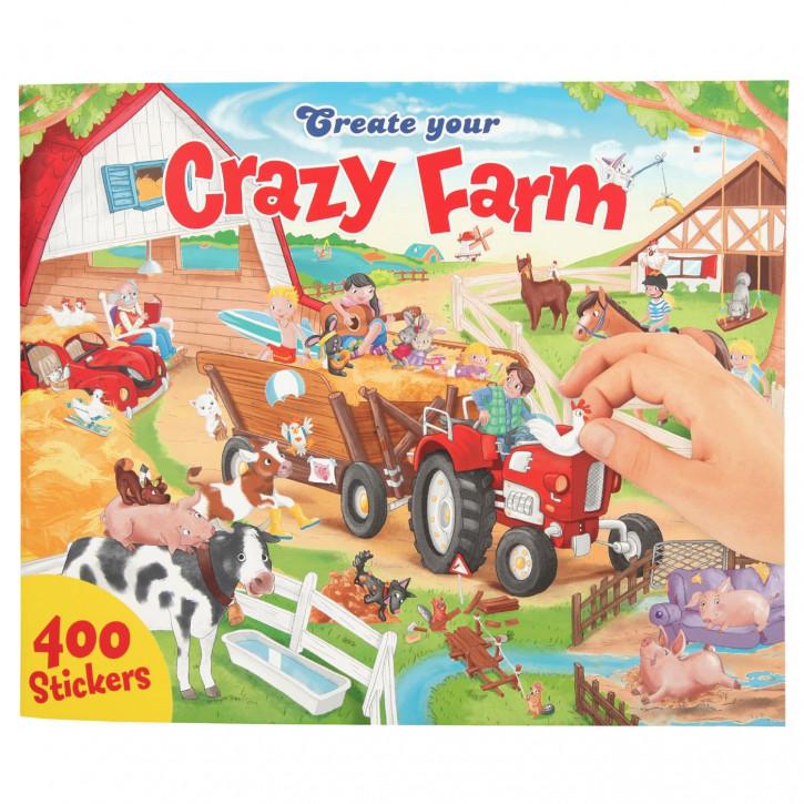 Create your Crazy Farm, Malbuch mit Stickern