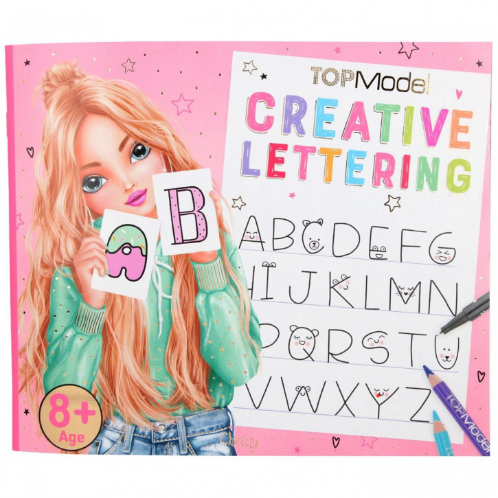 TOPModel Creative Lettering Malbuch