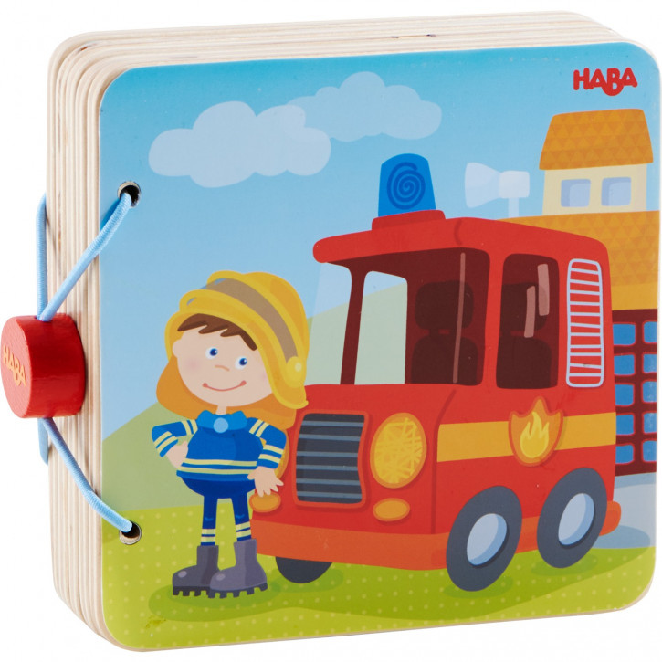 Holz-Babybuch Feuerwehr2
