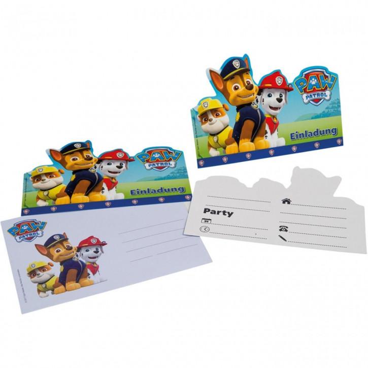 Party Einladungskarten PAW Patrol / 6St.