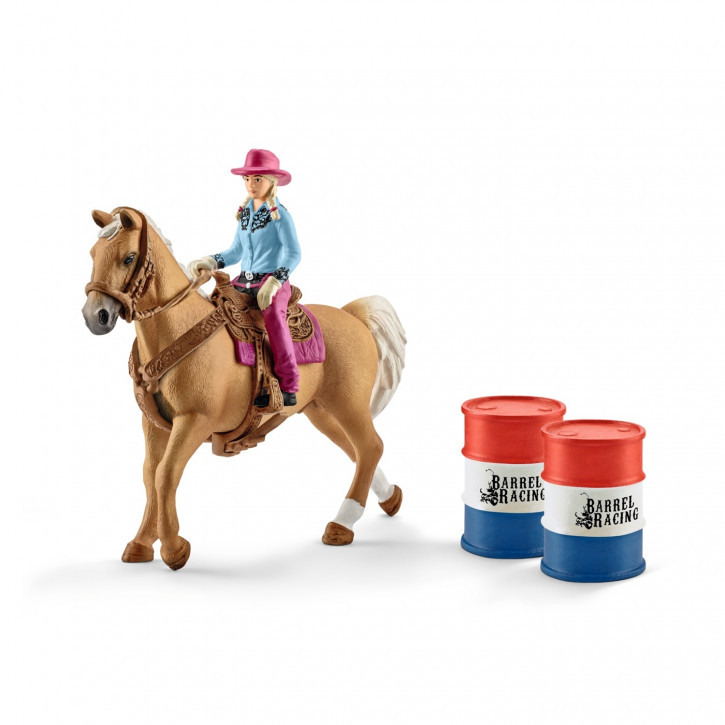 Schleich Barrel racing mit Cowgirl