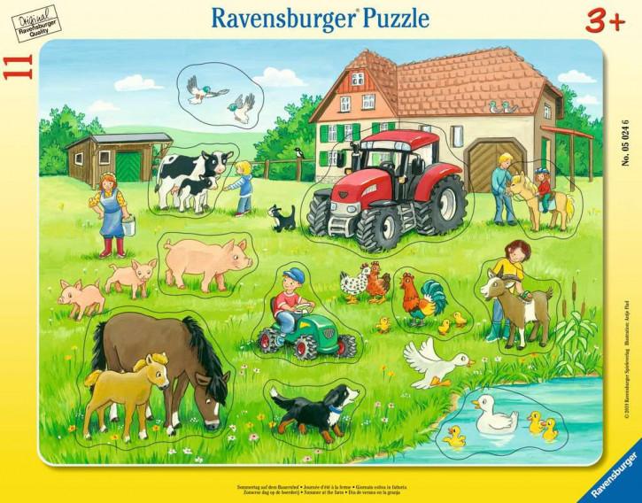 Rahmenpuzzles 11 Teile Sommertag auf d.Bauernhof