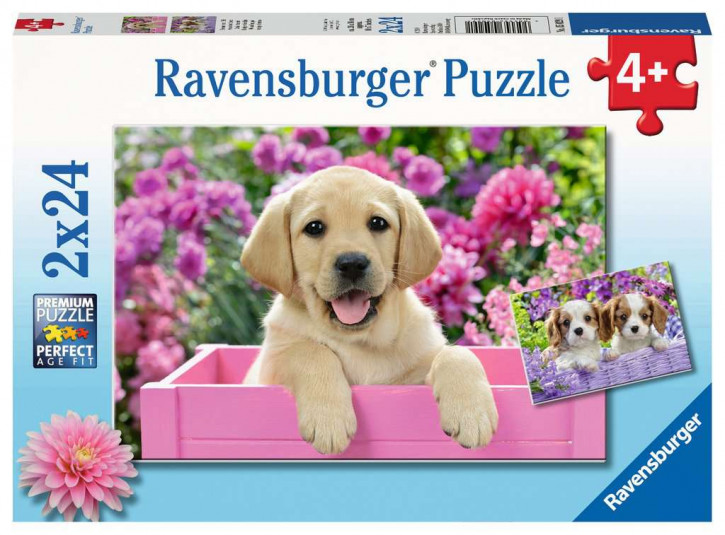 Puzzle 2 X 24 Teile Freunde mit Fell