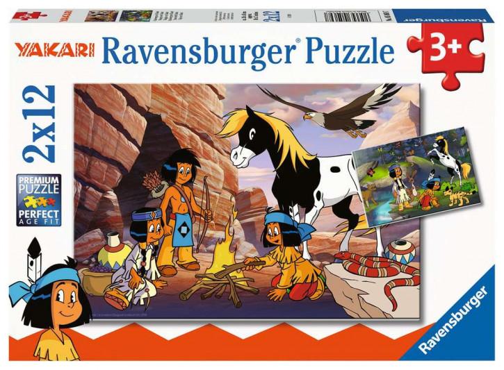 Puzzle 2 X 12 Teile Unterwegs mit Yakari