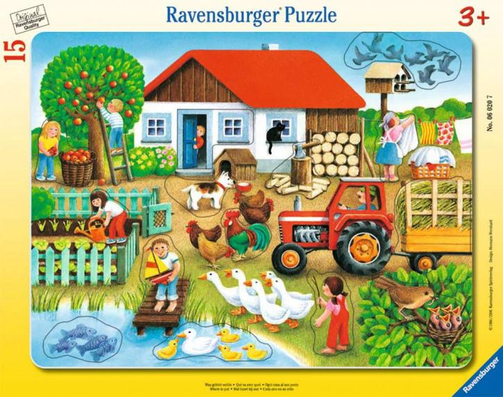 Rahmenpuzzles 15 Teile Was gehört wohin?