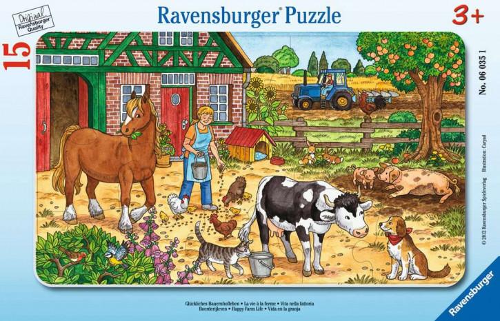 Rahmenpuzzles 15 Teile Glückliches Bauernhofleben