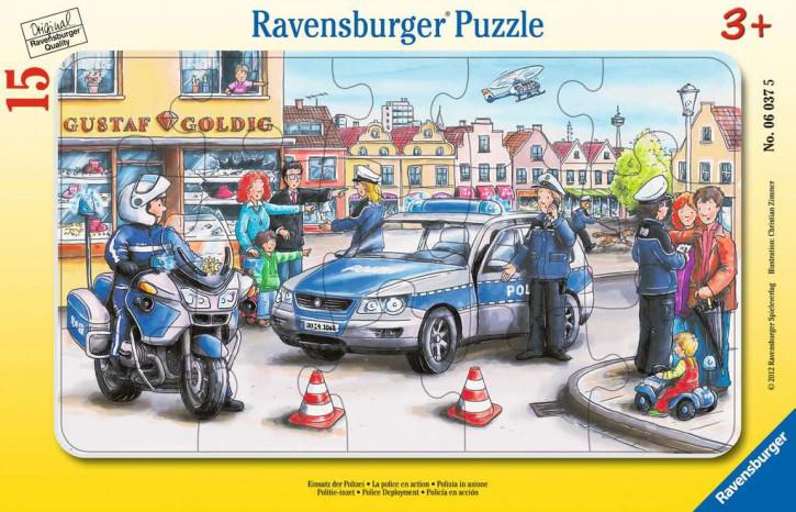 Rahmenpuzzles 15 Teile Einsatz der Polizei