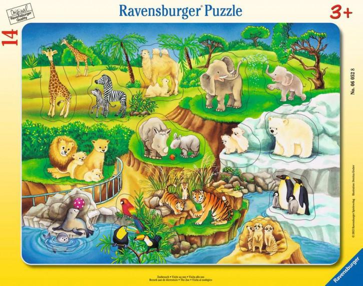 Rahmenpuzzles 14 Teile Zoobesuch