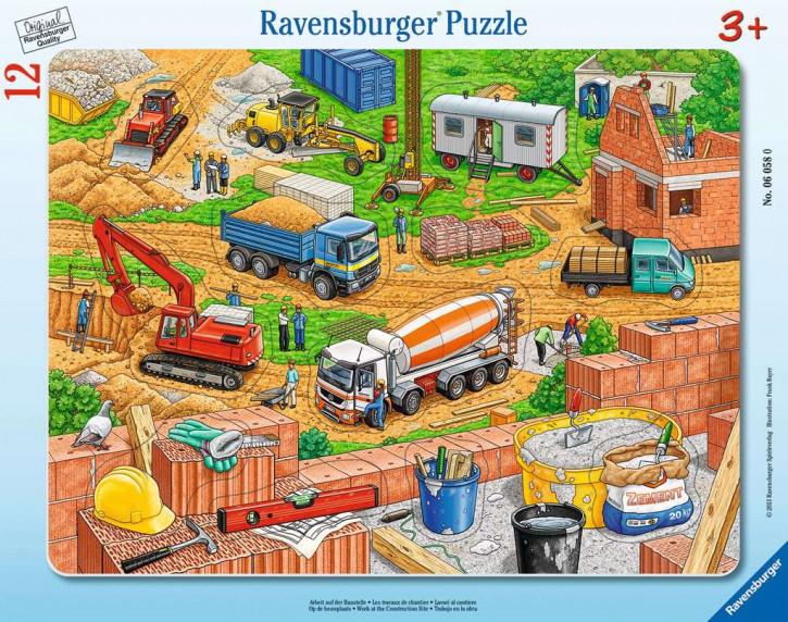 Rahmenpuzzles 12 Teile Arbeit auf der Baustelle