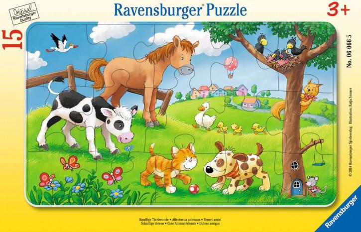 Rahmenpuzzles 15 Teile Knuffige Tierfreunde
