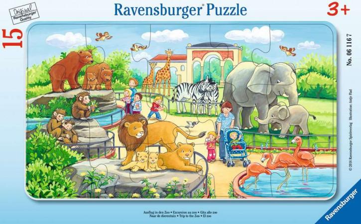 Rahmenpuzzles 15 Teile Ausflug in den Zoo