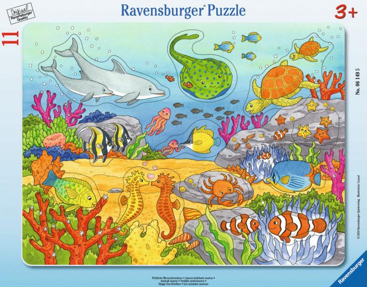 Rahmenpuzzles 11 Teile Fröhliche Meeresbewohner
