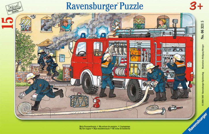 Rahmenpuzzles 15 Teile Mein Feuerwehrauto