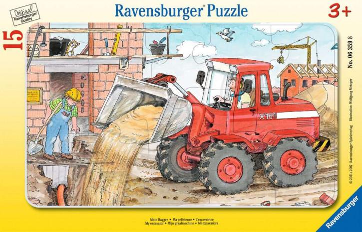 Rahmenpuzzles 15 Teile Mein Bagger