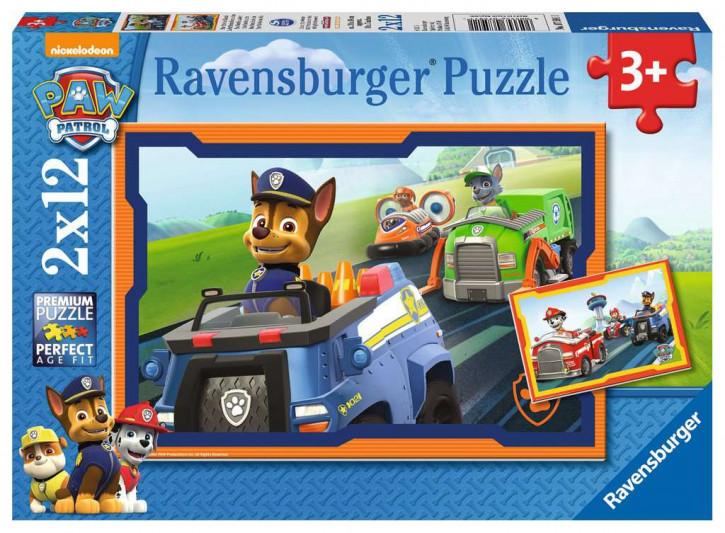Puzzle 2 X 12 Teile PAW:Paw Patrol im Einsatz