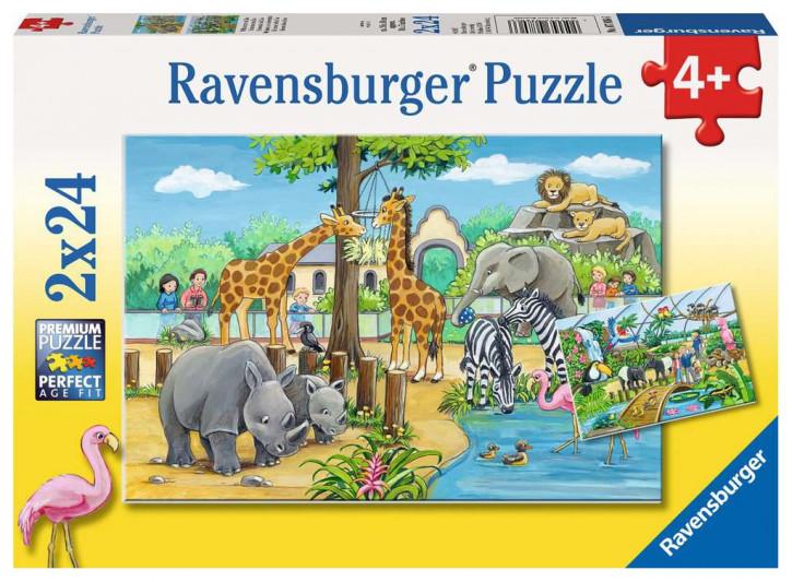 Puzzle 2 X 24 Teile Willkommen im Zoo