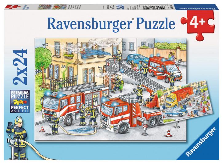 Puzzle 2 X 24 Teile Helden im Einsatz