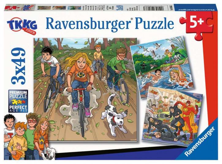 Puzzle 3 X 49 Teile Abenteuer mit TKKG