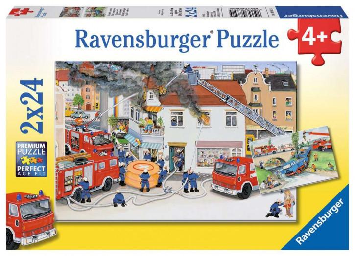 Puzzle 2 X 24 Teile Bei der Feuerwehr