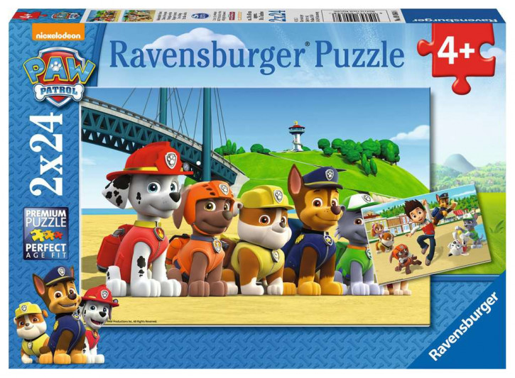 Puzzle 2 X 24 Teile PAW:Heldenhafte Hunde
