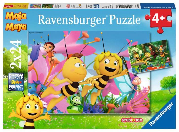 Puzzle 2 X 24 Teile-Die kleine Biene Maja