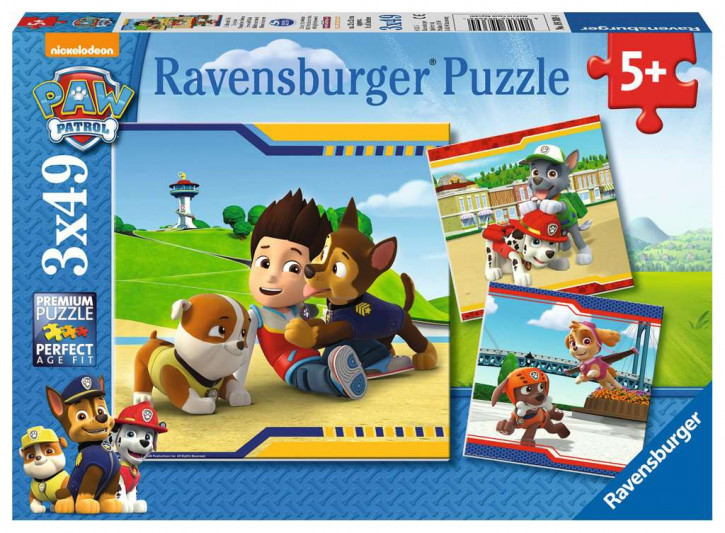 Puzzle 3 X 49 Teile Paw Patrol, Helden mit Fell