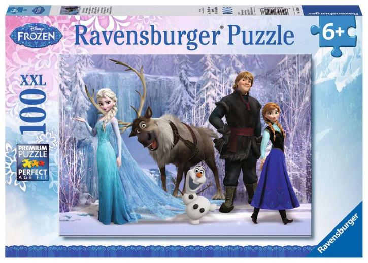 Puzzle 100 Teile XXL Frozen, Im Reich der Schneekönigin