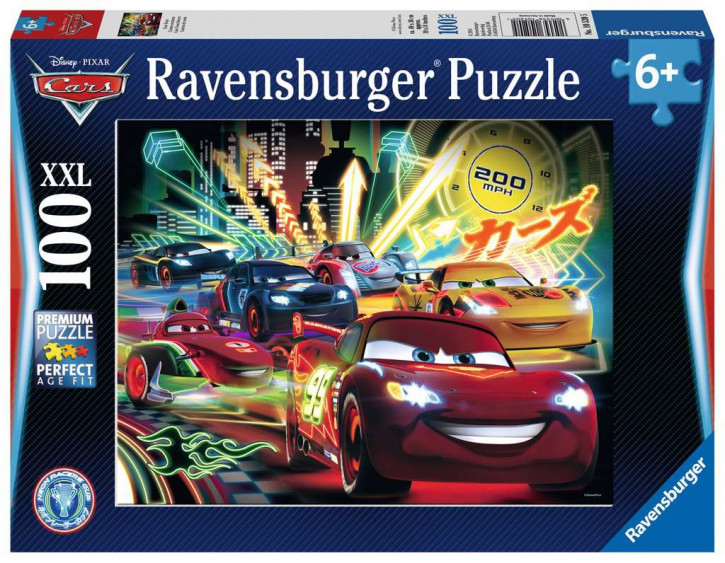 Puzzle 100 Teile XXL Cars, Cars Neon