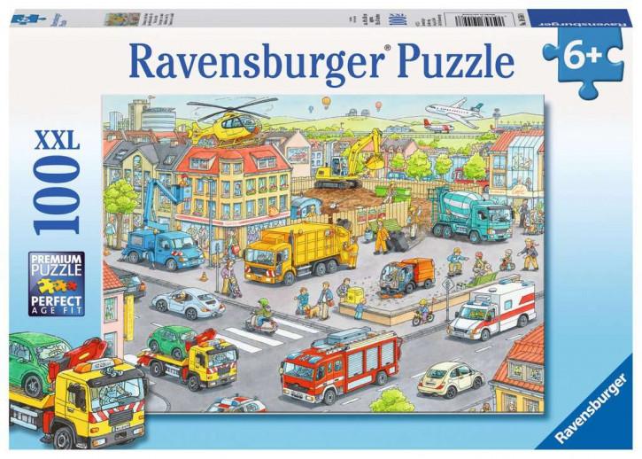 Puzzle 100 Teile XXL Fahrzeuge in der Stadt