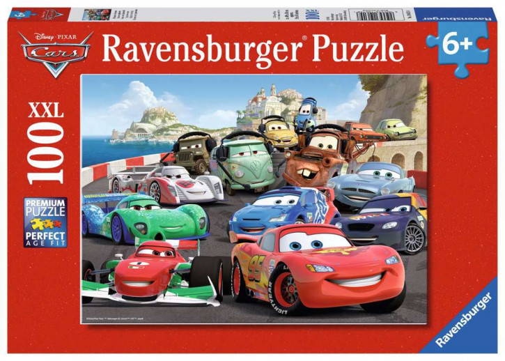 Puzzle 100 Teile XXL Cars, Brisantes Rennen