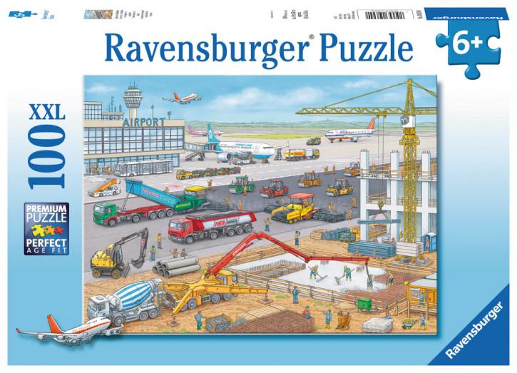 Puzzle 100 Teile XXL Baustelle am Flughafen