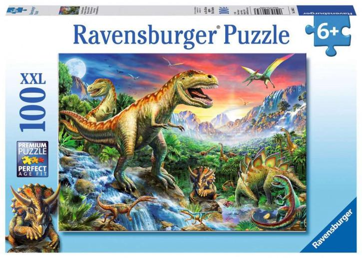 Puzzle 100 Teile XXL Bei den Dinosauriern