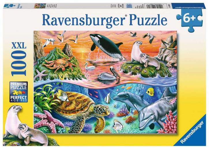 Puzzle 100 Teile XXL Bunter Ozean