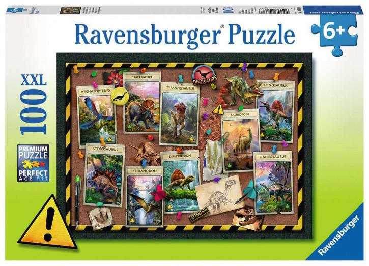 Puzzle 100 Teile XXL Dinosaurier-Sammlung