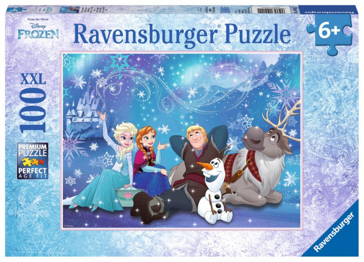 Puzzle 100 Teile XXL Frozen, Eiszauber