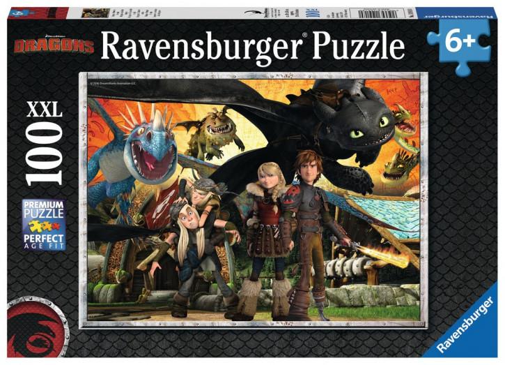 Puzzle 100 Teile XXL Dragons, Drachenfreunde