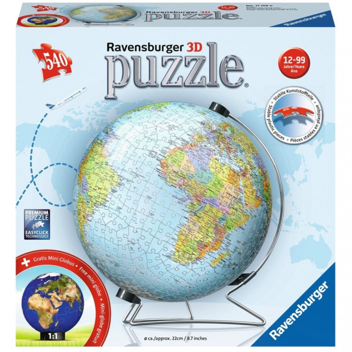 Puzzle-Ball 3D 540 Globus deutsch´19