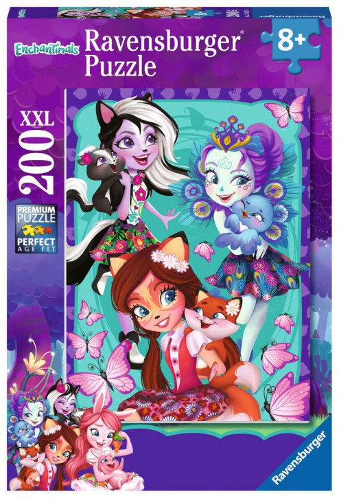 Puzzle 200 Teile XXL Enchantimals, Beste Freunde für immer