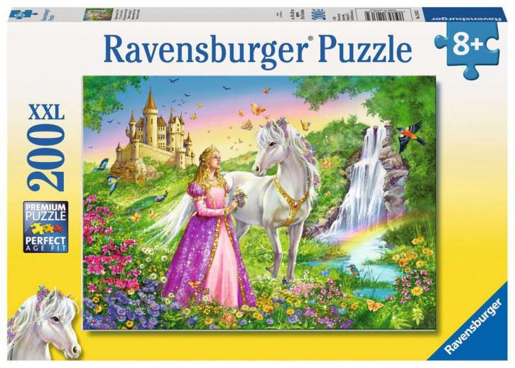 Puzzle 200 Teile XXL Prinzessin mit Pferd