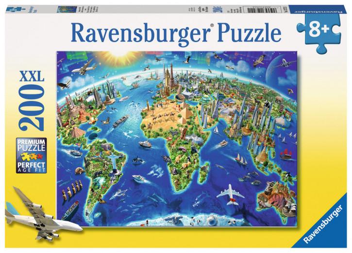 Puzzle 200 Teile XXL Große, weite Welt