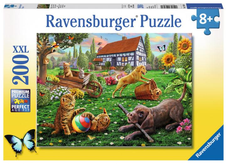 Puzzle 200 Teile XXL Entdecker auf vier Pfoten
