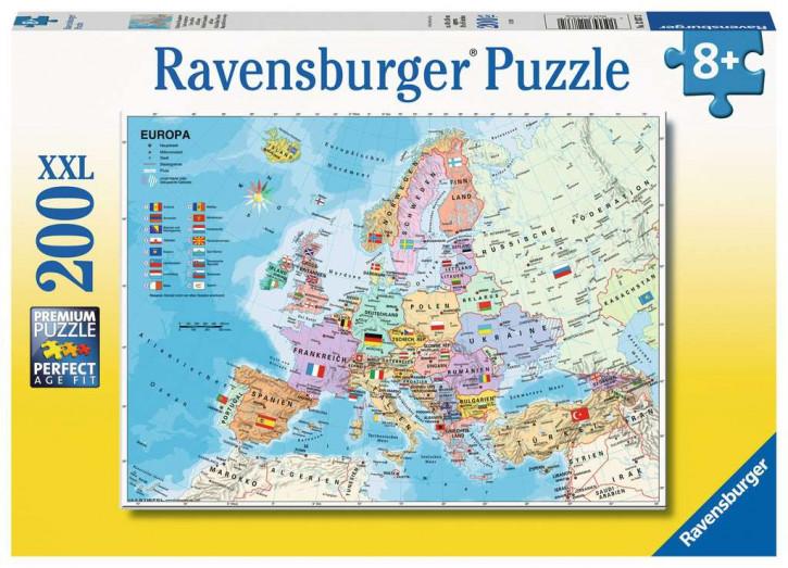 Puzzle 200 Teile XXL Politische Europakarte