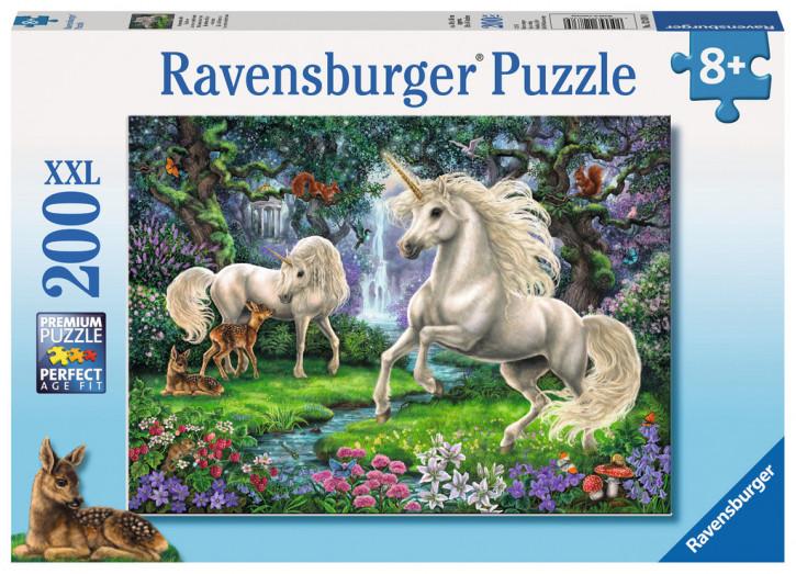 Puzzle 200 Teile XXL Geheimnisvolle Einhörner